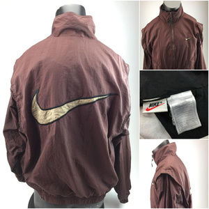 Vintage brown Nike windbreaker jacket G10-3-37